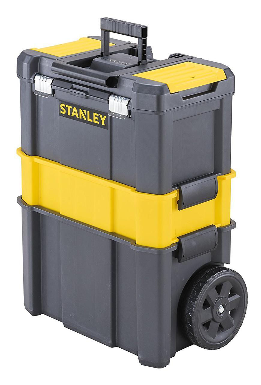 """Ящик инструментальный  47,5x28,5x62,3 см на колесах 3 в 1 """"ESSENTIAL"""" STST1-80151"""