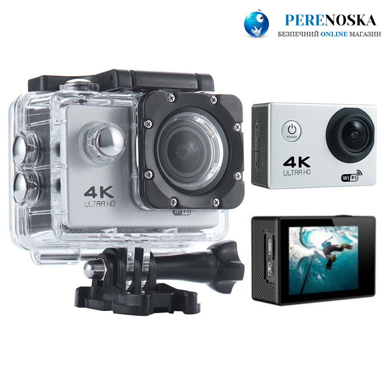 Экшн-Камера F60B| Качество камеры 4К| + Есть встроенный WiFi