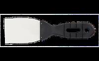 Шпатель малярний 80 мм, нерж., пласт. ручка(Top Tools) (18B118)