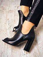 Классические кожаные туфельки на каблуке, фото 1