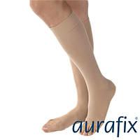 Компрессионные гольфы 1 класс Aurafix AV-100 с открытым носком
