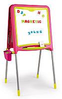 Двухсторонний магнитный складной мольберт розовый Smoby 410303, фото 1