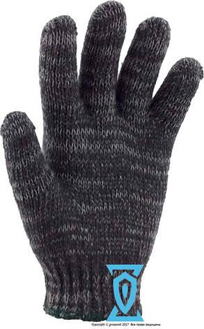 Перчатки рабочие х/б меланжевая без пвх покрытия, фото 2