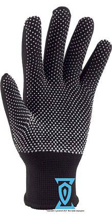 Перчатки рабочие тонкие нейлоновые с микроточкой пвх покрытием, фото 2