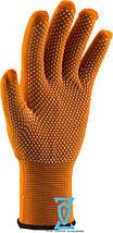 Перчатки рабочие тонкие нейлоновые с микроточкой пвх покрытием, фото 3