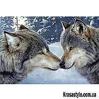 Алмазная вышивка Пара волков