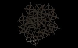 Хрестики дистанційні, багаторазові, 5 мм, 100