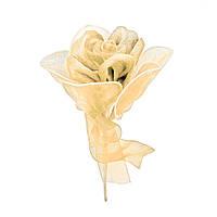 Роза одиночная #1 бежевая (16 см)