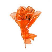 Роза одиночная #4 оранжевая (16 см)