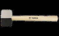 Молоток гумов. чор/біл., 680 г, d=63 мм, дер. ручка