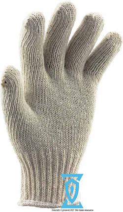 Перчатки рабочие х/б белая без пвх покрытия, фото 2