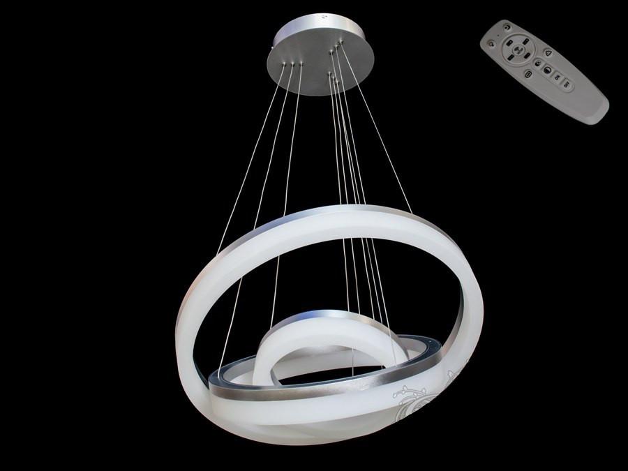 Люстра светодиодная 8123-600+450+300 Gray 70w dimmer