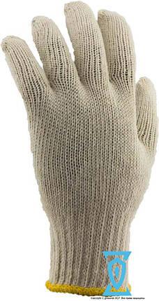 """Перчатки рабочие х/б белая с пвх покрытием """"волна"""", фото 2"""
