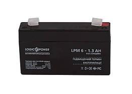 Свинцово-кислотный аккумулятор Battery LogicPower 6V, 1.3Ah