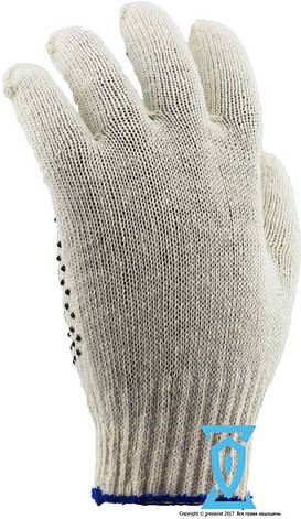 """Перчатки рабочие хб с пвх покрытием """"Фора"""" Doloni, фото 2"""