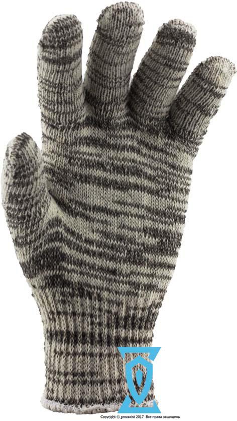 Рукавички робочі х/б сіра без пвх покриття Рубежтекс 104 (Україна)