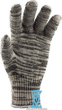Рукавички робочі х/б сіра без пвх покриття Рубежтекс 104 (Україна), фото 2