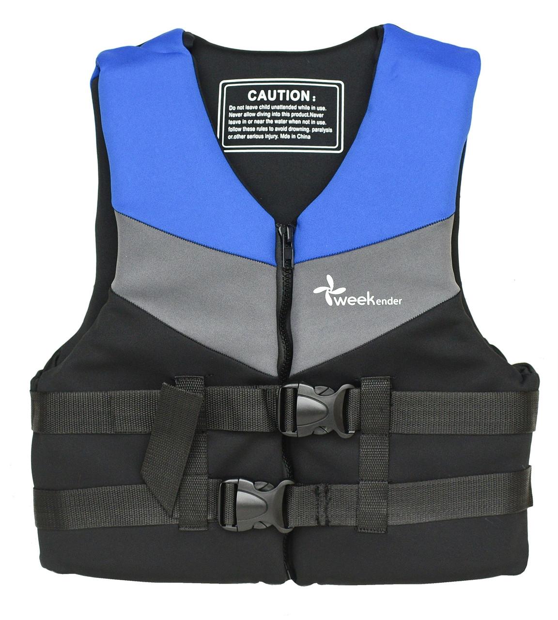 Спасательный жилет водный S неопрен YW1101 для лодки, катера, яхты