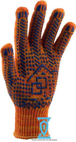 """Перчатки рабочие х/б оранжевая с пвх покрытием """"рубеж"""", фото 2"""