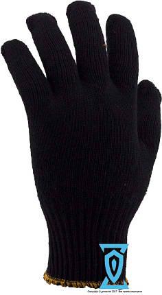 Перчатки рабочие х/б черная с пвх покрытием Рубежтекс 114 (Украина), фото 2