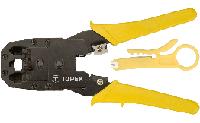 Кліщі для обтискання телефонних наконечників 4P, 6P, 8P