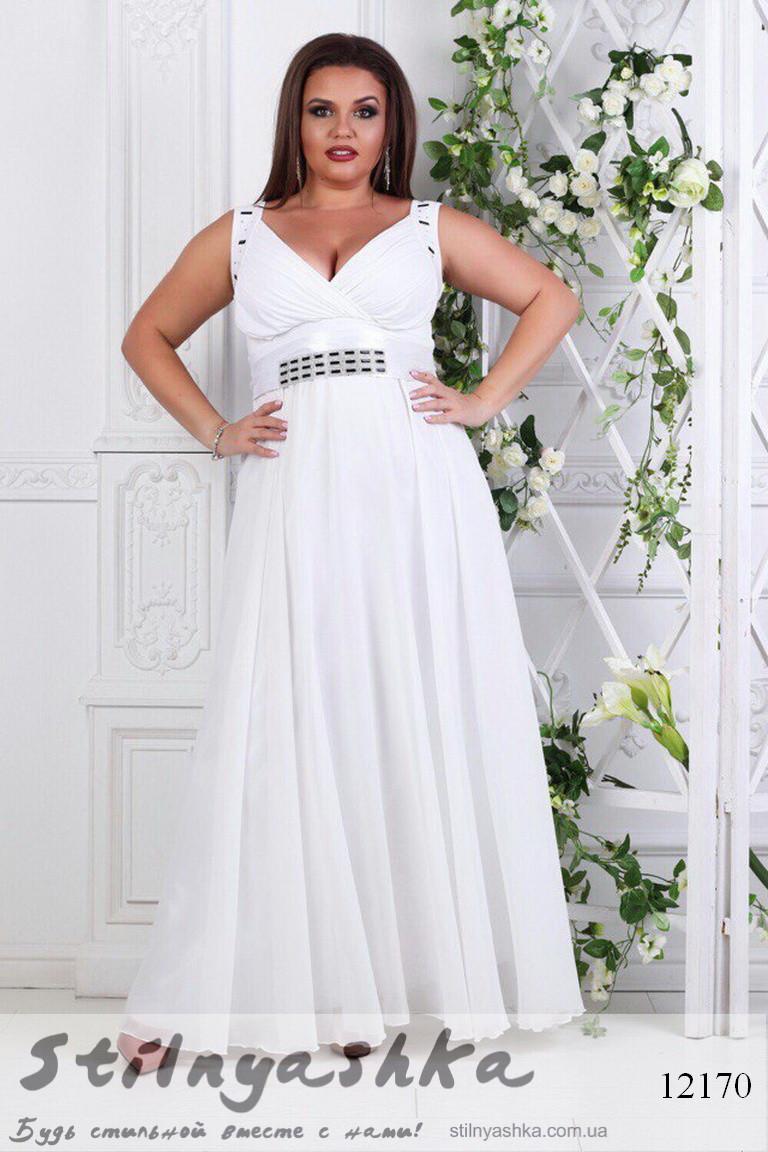 d014e34b26c Платье в греческом стиле для полных белое - купить оптом и розницу в ...