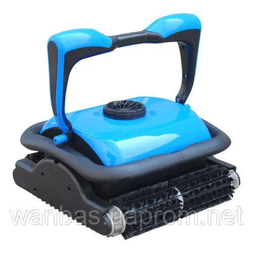 Робот-пылесос Saphir для плиточных бассейнов. Режим - дно + стены + ватерлиния. 2 мотора. Длина кабеля - 18 м