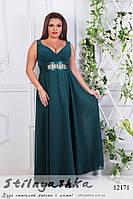 Платье в греческом стиле для полных изумруд, фото 1