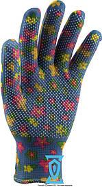 Перчатки рабочие нейлоновые с микроточкой пвх покрытием (женские)