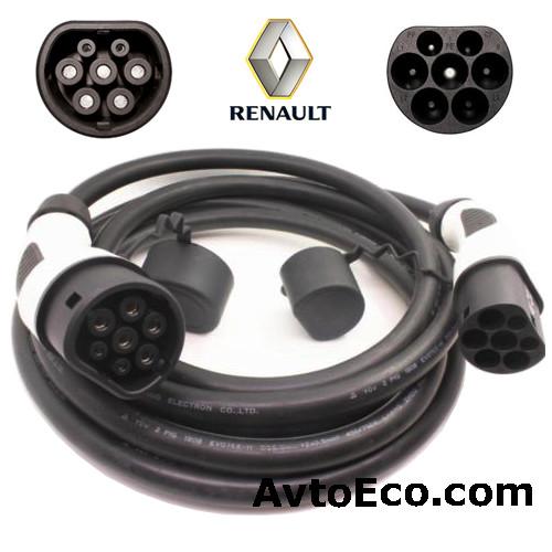 Зарядный кабель Renault KANGOO Z E Type 2 Mennekes - Type 2 Mennekes (32A - 3 метра)