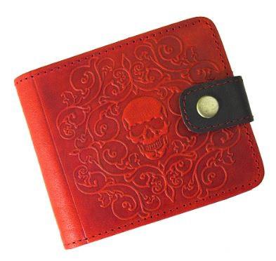 Портмоне червоне з RFID - захистом