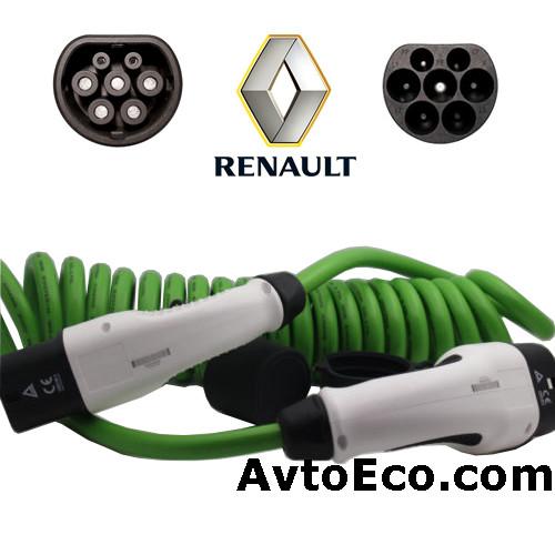 Зарядный кабель Renault KANGOO ZE Type 2 (Mennekes) - Type 2 (32A - 3 метра)