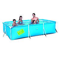Детский каркасный бассейн Bestway 56411 (300x201x66) с картриджным фильтром, фото 1