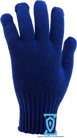 """Перчатки рабочие х/б синяя с пвх покрытием """"Doloni арт.646"""" (Украина), фото 2"""