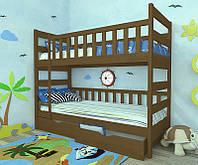 """Кровать двухъярусная детская подростковая от """"Wooden Boss"""" Марко (спальное место 80х160)"""