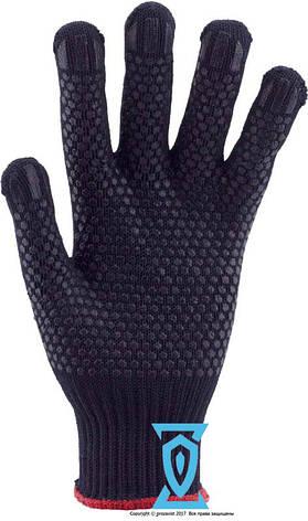 Перчатки рабочие  синтетика синяя с пвх покрытием (Польша), фото 2