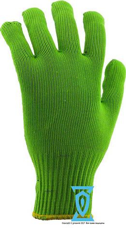 Перчатки рабочие синтетика салатовая с пвх покрытием (Польша), фото 2