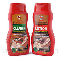 Набор по уходу за кожей Bullsone 2 in 1 Leather Lotion and Leather Cleaner