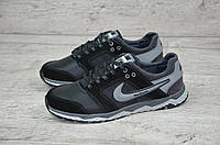 Мужские кожаные кроссовки Nike реплика. КОД: Nike Н-8 чер.