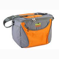 Удобная сумка-холодильник GREEN CAMP GC1410-3 , оранж 15л
