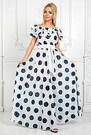 Платье в пол, горошек. Разные цвета.