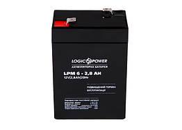 Свинцово-кислотный аккумулятор Battery LogicPower 6V, 2.8Ah