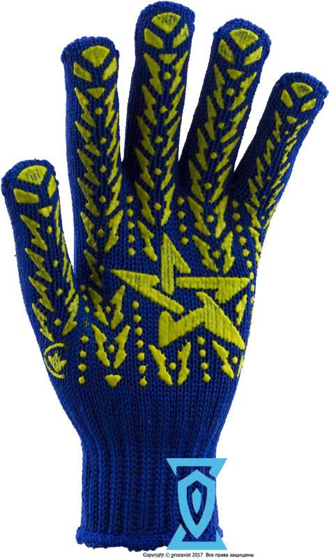 "Перчатки рабочие звезда синяя ""Doloni арт.587"" (Украина)"