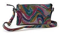 Небольшая вместительная женская сумочка почтальонка art. 54-3 (102686) разноцветная Украина, фото 1