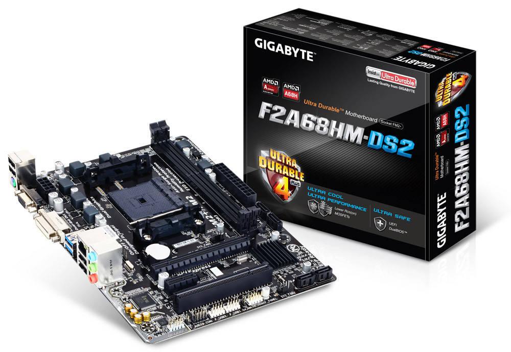 """Материнская плата Gigabyte GA-F2A68HM-DS2 OEM FM2/FM2+ DDR3 """"Over-Stock"""""""