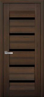 Межкомнатные двери  Лира LIRA С ЧЕРНЫМ СТЕКЛОМ Цвет Дуб шоколадный