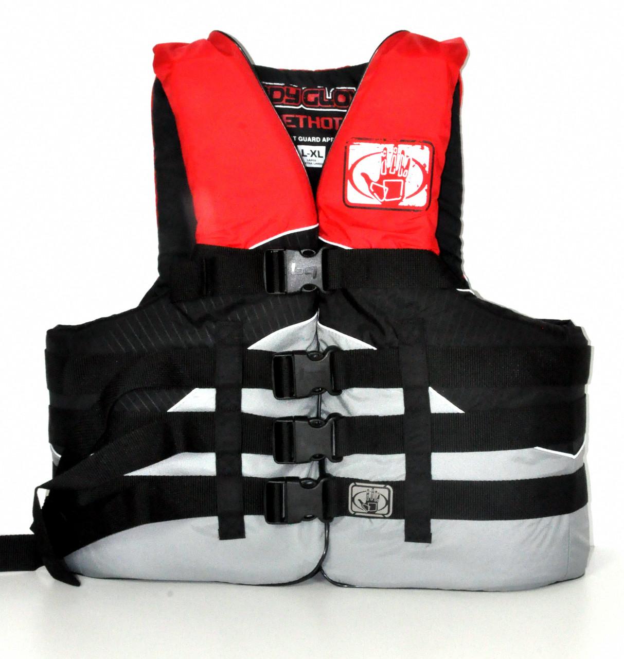 Рятувальний жилет водний BodyGlove нейлон 2XL/3XL Method чорно-червоний для човни, катери, яхти