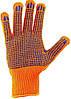Перчатки рабочие синтетика оранжевая с пвх покрытием (Польша)