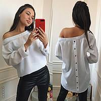 Женская рубашка с открытыми плечами 16124