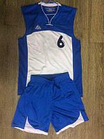 Форма баскетбольная LIGA SPORT бело-синяя с номером ( № 6 ; р. 48 )